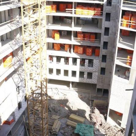 Строительство корпусаЕлагин апарт май 2016 год