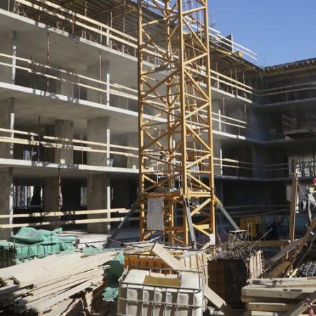 Строительные работы в ЖК Елагин апарт март 2016